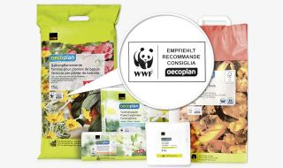 La nostra marca propria Non Food ecologica Oecoplan è raccomandata dal WWF. Our environmentally friendly non-food own-label brand Oecoplan is recommended by WWF.